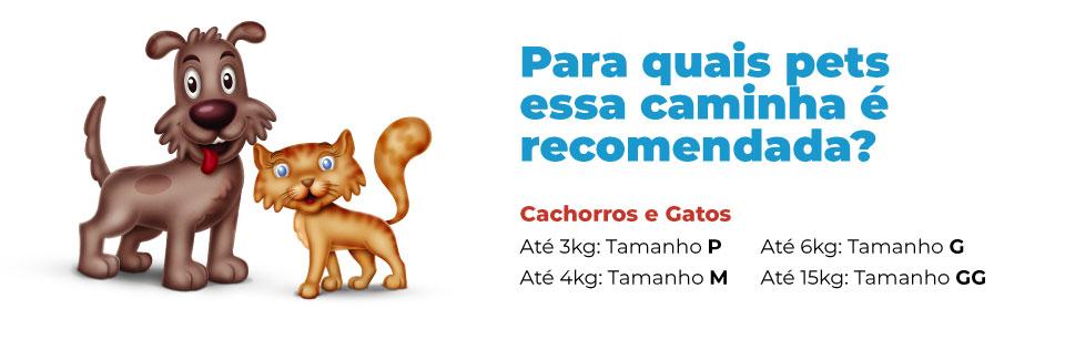 Para quais pets essa caminha é indicada Cama para Cachorro e Gato Modelo Retangular Crok