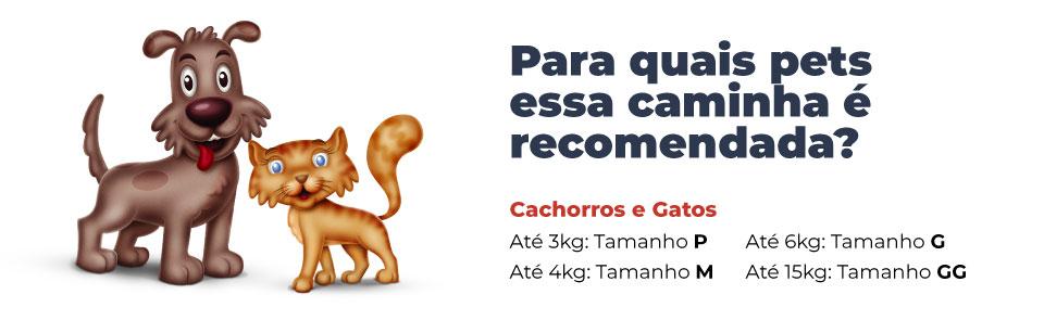 Para quais pets essa caminha é indicada Cama para Cachorro e Gato Retangular Marítima