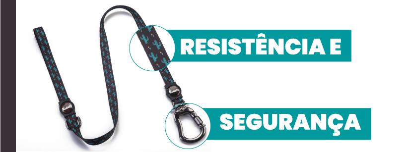 Resistencia e Segurança da Guia e Coleira com Guia para Cachorros e Gatos Modelo Poly Ridelf