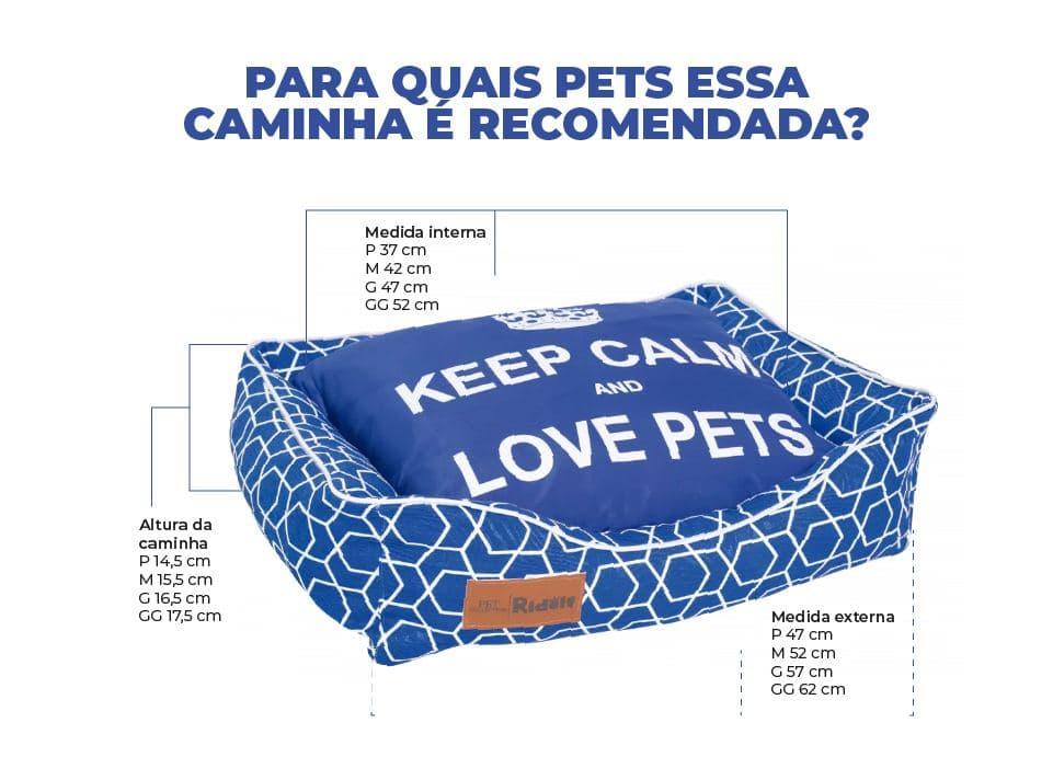 CAMINHA PETS MODELO RETANGULAR - KEEP CALM