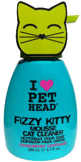 Mousse de Limpeza para Gatos - Pet Head Fizzy Kitty